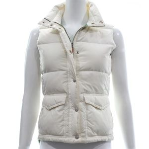 J. CREW IVORY PUFF VEST SIZE X-SMALL